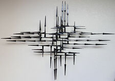 Mid Century Brutalist Retro abstract metal Wall Sculpture By Corey Ellis C Jere