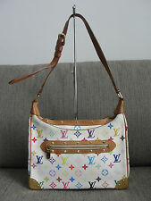 SALE! Auth Louis Vuitton LV Multicolore Monogram Boulogne White Gold HW