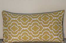 "2 New Abstract Cotton Canvas Pillow  Cover/Shells -Yellow, Black & white 12""x20"""
