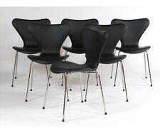 Véritable Arne Jacobsen 3107 chaise w / new cuir noir-signé-Rétro-danois