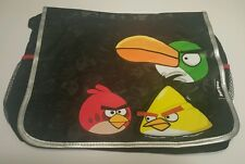 Rovio Angry Birds School Messenger Bag with 3  Birds in Black