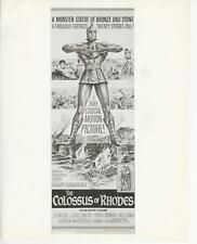 "L.Massari, G.Marchal in ""The Colossus of Rhodes"" 1961 Vintage Publicity Photo"