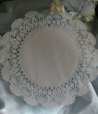 """25 pcs 12"""" INCH WHITE PAPER FILIGREE WEDDING LACE DOILIES CRAFT CHARGER PLACEMAT"""