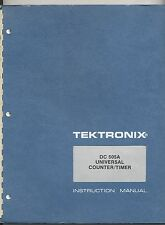 Tektronix DC 505A Universal Counter/Timer Op & Service Manual Loc.Tek 064