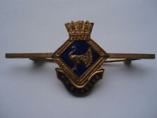 C1940S VINTAGE H.M.S.ANGUS SWEETHEARTS ENAMEL BAR PIN BROOCH