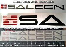 """Saleen Racing Custom Decals 14"""" X .88"""" Premium Die-Cut 1-step install EASY 0011"""