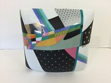 Rosenthal Porcelain Brigitte Doege Vase Multi Color Abstract, 1980's Signed