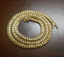 "30"" 14k Gold Plated Silver Miami Cuban Link Chain, 6 mm 105 grams"