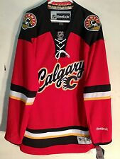 Reebok Premier NHL Jersey Flames Team Red Alt sz L