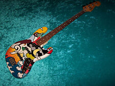 Fender Mexican Jazz Bass standard MIM Mexico guitar vintage design custom paint