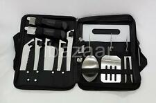 10 in 1 CAMPING FISHING FILLET KNIFE BBQ TOOL STAINLESS STEEL CUTLERY SET