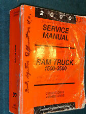 2000 DODGE TRUCK SHOP MANUAL / SHOP BOOK / ORIG. 1500-3500 PICKUPS