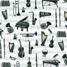NUTEX PATCHWORK FABRIC - MUSIC TO MY EARS - 88430 - 101