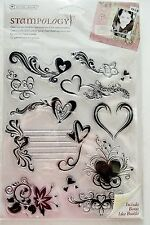 Love is in the Air Heart Clear Acrylic Stamp Set by Autumn Leaves AL3173