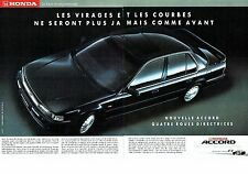 PUBLICITE ADVERTISING 017  1990  Honda ( 2pages)  la nouvelle Accord F1