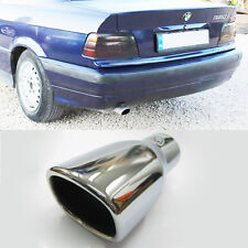 Car Sport Exhaust Tip Muffler Trim Pipe Chrome Fits BMW 3 series E36 92 - 95