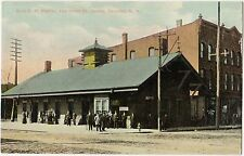 Corning Erie NY Bahnhof Railroad Station and Hotel St. James Ansichtskarte 1912