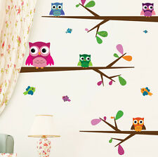 Wall Stickers Wall Decals Kids Room Looking at You 5 Owls