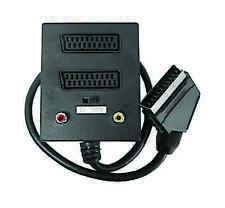 Scart Splitter Adapter. 1x Input 2 x Output Adaptor (Audio/Video) Black