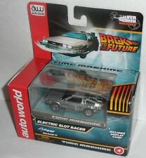 Back to the Future Time Machine Auto World Electric Slot Racer NEW!!