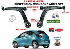 FOR FORD KA 2008-  LEFT + RIGHT LOWER FRONT SUSPENSION WISHBONE ARM + BALL JOINT