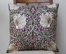 """Cushion Cover in William Morris Pimpernel Aubergine Design 16"""" Sanderson Fabric"""