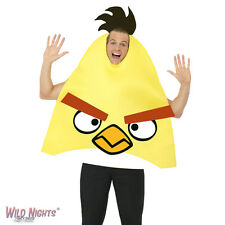 """FANCY DRESS COSTUME # ADULT GAMING CARTOON ANGRY BIRDS YELLOW MED 38""""-40"""""""