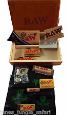 RAW Brand Set 13 Piece Set Box Paper Rolling Machine Tips Lighter OdorBag Loader