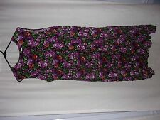 WOMENS FLORAL SLEEVELESS DRESS JUST MY SIZE BRAND SIZE 22W