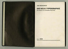 1928 Jan Tschichold DIE NEUE TYPOGRAPHIE German Graphic Design Typography 1st ed