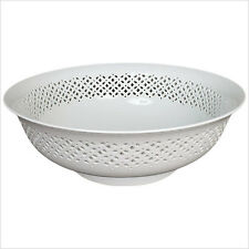 Linkasink SM007-W White English Cutwork Smithsonian Collection Vessel Sink