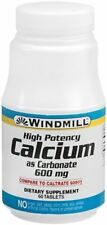 Windmill Calcium Carbonate 600 mg Tablets 60 Tablets