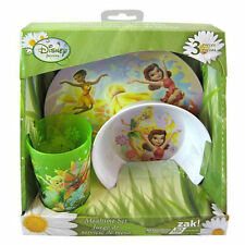 3pc Dining Feeding Gift Set Plate Bowl Tumbler Tinkerbell Fairies New