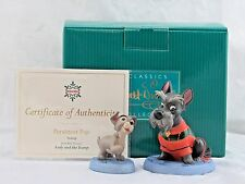 """WDCC """"Persistant Pup"""" Scamp """"Patient Pal"""" Jock from Lady and the Tramp, Box COA"""