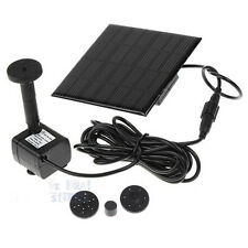 Solar Power Fountain Submersible Water Pump Garden Pond Pool Feature Kit Plants