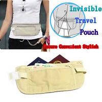 1x Travel Security Waist Pouch Passport Money Card Ticket Belt Bag Hidden Wallet