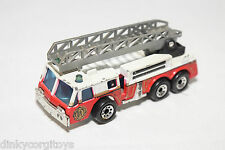 MATCHBOX FIRE ENGINE LADDER WHITE RED EXCELL CONDITION