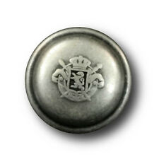 5 authentisch wirkende altsilberfarb. Uniform Knöpfe mit Wappen (0565as-27mm)