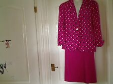 JAEGER PINK 2 PIECES SKIRT SUIT SIZE 12 FULLY LINED