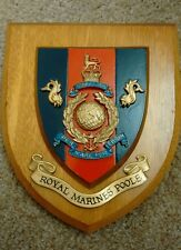 ROYAL MARINES POOLE. AMPHIBIOUS TRAINING PLAQUE SHIELD HAND PAINTED