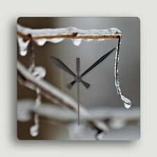 Good to the Last Drop ~ SQUARE WALL CLOCK / Evocative Image of Melting Ice