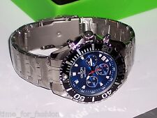 Croton Men Stainless Steel Quartz Watch with Blue Dial and Chronograph Subdials