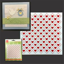 HEART QUILT folder Marianne embossing folders - 5x5 DF3432 Cuttlebug Compatible