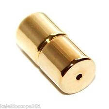 MAGNETIC CLASP 5X10MM 5X5MM CYLINDER TUBE GOLD COLOR 5 CLASPS MC5G
