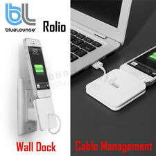 BlueLounge Rolio Wall Dock Lightning Cable Organizer Holder for iPhone 6 6S Plus