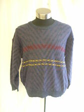 "Mens Jumper - HP. Roessler, 52"" chest, purple/multi, patterned, 52% wool - 7798"