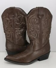 RAMPAGE Wellington Women's Western Cowboy Boot Brown Size 7.5 M NEW IN BOX