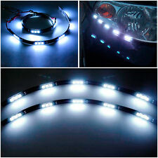 "2x 12"" LED Strips Self Adhestive DRL Running Fog Light Tuning Decoration For Car"