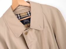 KU378 BURBERRY OVERCOAT COAT ORIGINAL PREMIUM MADE IN ENGLAND BEIGE size 42