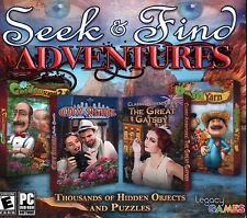 Seek & Find Adventures 4 Pack PC Games Windows 10 8 7 Vista XP Computer hidden